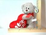 Медвежонок с сердечком 25см