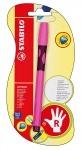 Ручка шариковая для правши розовая STABILO LEFTRIGHT, чернила синие