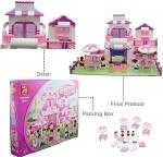 Конструктор Замок розовая мечта ТМ Sluban