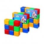 Кубики цветные, 9 кубиков