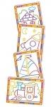 """Раскраски """"Волшебные контуры"""" (4 в 1). Домик ТМ Vladi Toys"""