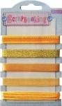 Набор лент декоративных металлизированных, оттенки желтого