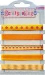Набор лент декоративных с узором, оттенки жёлтого
