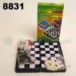 Шахматы магнитные 3в1