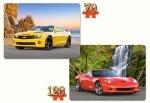 """Castorland: Пазлы 2х1 """"Красивые и быстрые машины"""""""