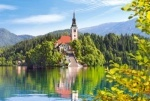 Castorland: Пазлы 1000 эл. Часовня над озером