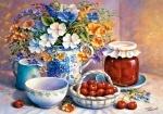 Castorland: Пазлы 500 элементов Букет и вишневое варенье