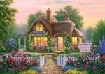Castorland: Пазлы 500 элементов Домик в кустах роз