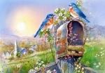 """Castorland: пазл """"Птицы и почтовый ящик"""", 1000 эл."""