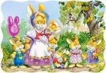 """Castorland: пазл """"Семья Кроликов"""". 30 эл."""