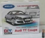 Сборная модель машинка металл 1:24 AUDI TT COUPE