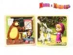 Деревянная игрушка Пазлы Маша и Медведь