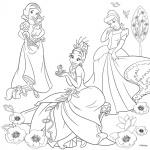 "Холст с контуром ""Принцессы-3"" с красками"