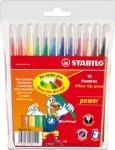 Фломастеры 12 цветов STABILO Power