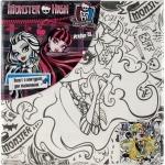 Холст с контуром 20х20 см Monster High