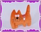 Котик с орнаментом