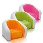 Надувное кресло велюровое Интекс