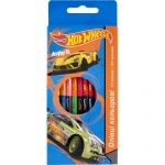 Карандаши двусторонние цветные 12 цветов Hot Wheels