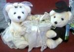 Мишка свадебный, 26*33 см