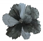 Суданская роза 21 см c клипом, серебро