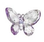 Бабочка 7 см на магните, лиловая