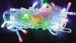 Электрогирлянда светодиодная, 100 ламп, многоцветная