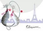 """Папка-конверт на кнопке А4 """"Glamour cats"""""""