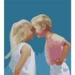 ИДЕЙКА рисование по номерам Веселое детство