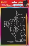 Гравюра Маша и медведь, Миша и рыбка