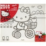 Холст с контуром 25х30см Hello Kitty
