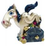 """Копилка """"HORSE"""", 11см, золотая"""