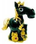 """Копилка """"HORSE"""", 17см, черная"""
