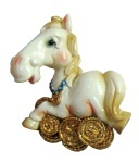 """Магнит """"HORSE"""", 7 см, белый."""