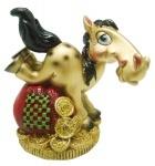 """Сувенир """"HORSE"""" 7 см, микс золото/черный"""