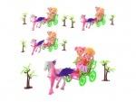 Набор кукла и  карета с лошадью