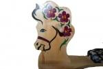 Лошадка-качалка из массива березы, с ручной росписью