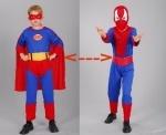 Карнавальный костюм Спайдер превращается в Супермена