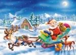 Пазлы сани Санта Клауса