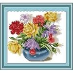Вышивка Разноцветный букет