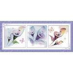 ИДЕЙКА вышивка Триптих. Разноцветные цветы