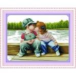 ИДЕЙКА вышивка Детский поцелуй
