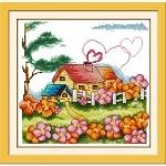 ИДЕЙКА вышивка Сельский домик