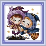 Вышивка крестиком Маленькие ведьмы