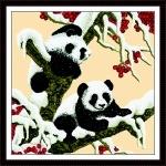 ИДЕЙКА вышивка Снежные панды