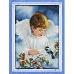 ИДЕЙКА вышивка Ангел и птичка