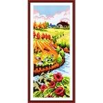 Вышивка крестиком Осенний пейзаж