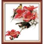 Вышивка крестиком Птицы и цветы