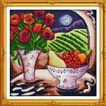 ИДЕЙКА вышивка Цветы и фрукты