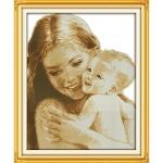 Вышивка крестиком Мать и дитя