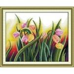ИДЕЙКА вышивка. Яркие тюльпаны